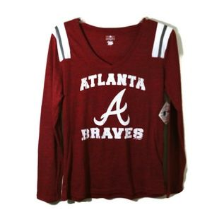 Atlanta Braves NWT long sleeved top L
